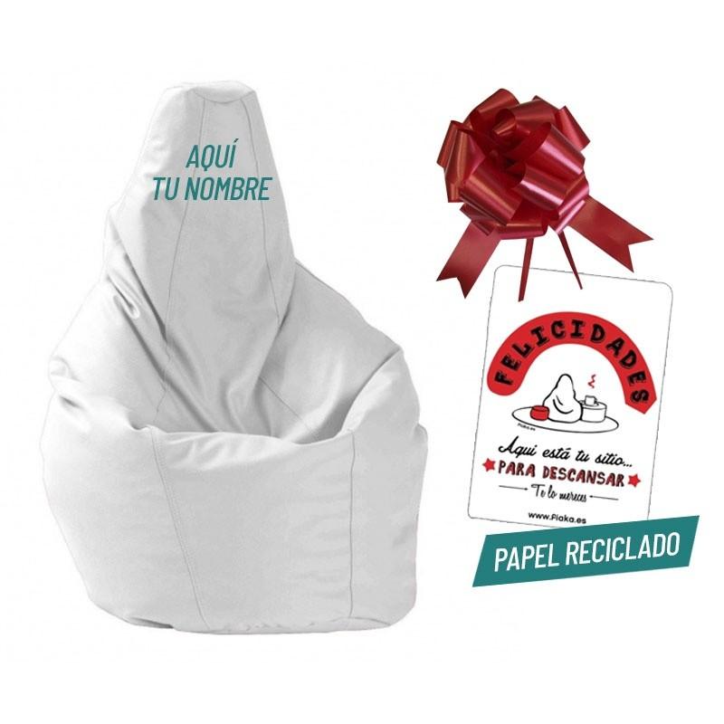 Pack Pera Regalo - Negro Polipiel Letra número 1 Blanco