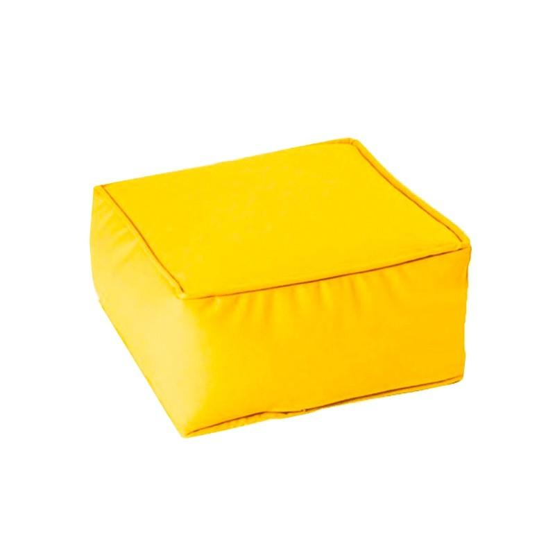 Puff Cuadrado Soft 45x45x20 - Amarillo Náutico (Poli Piel)