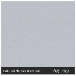 Puff Lanzarote - Náutico (Poli Piel) Gris perla