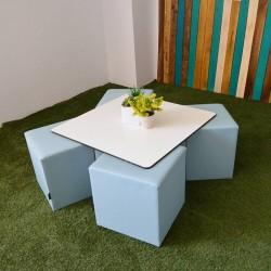 Quatro Table and Rigid Cubes Pack