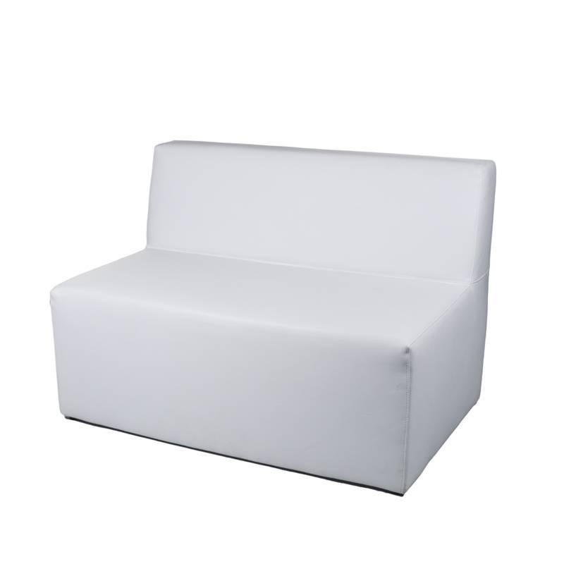 Menorca Plus two-seater Bench - Leatherette White