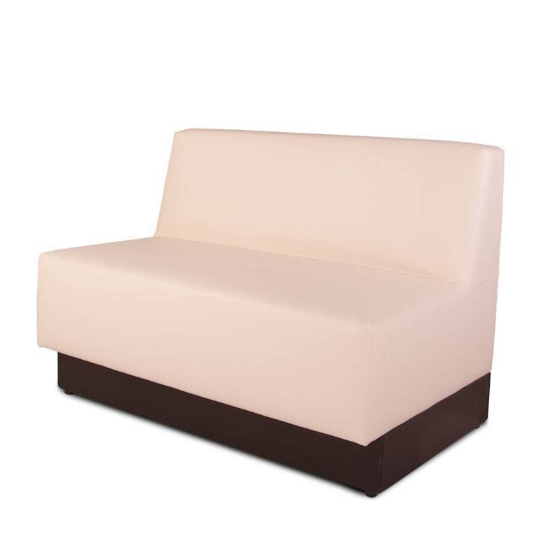 Florida Two-Seater Bench - Leatherette Beige