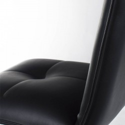 Lecco Chair - Black Leatherette Black