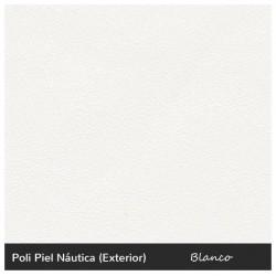 Lago Two-Seater Lounger - Nautic (Leatherette) White