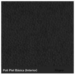 Boston Low Stool - Black Leatherette Boston Bajo