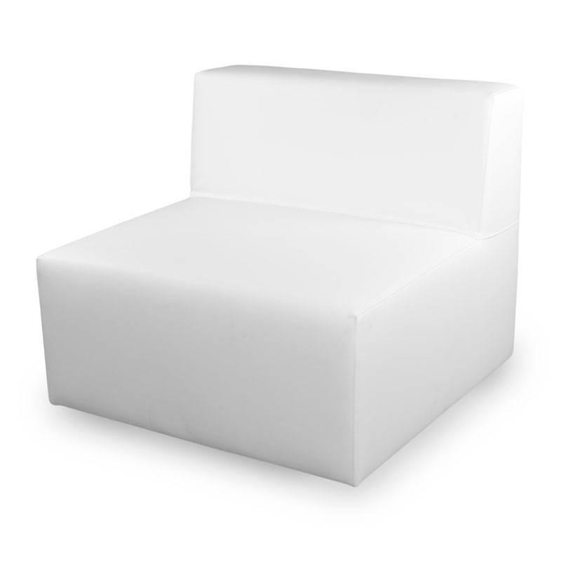 IOS Single Sofa - Leatherette White