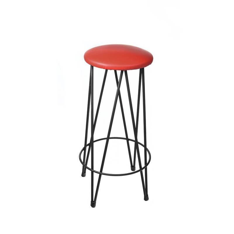 Boston High Stool - Red Leatherette Boston Alto