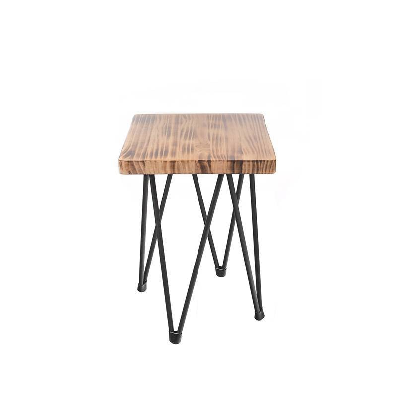 Boston XX Low Stool - Envejecido Cuadrado