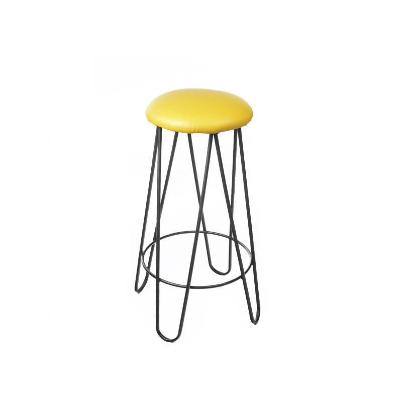 Chicago High Stool - Yellow Leatherette