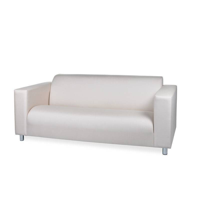 Rainbow High Two-Seater Sofa - Leatherette White