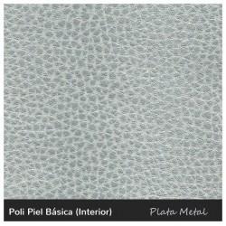 Lotus Sofa - Leatherette Silver
