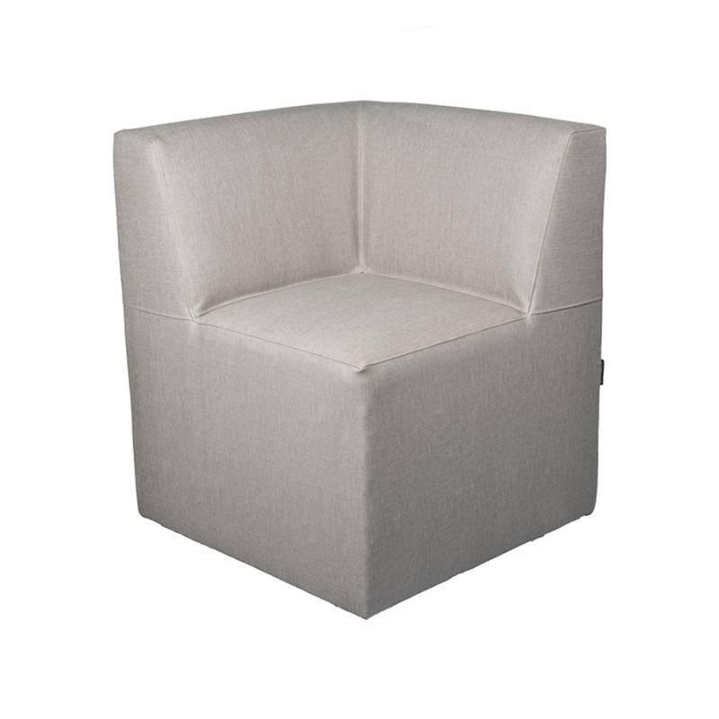 Menorca Corner sofa - Black Leatherette