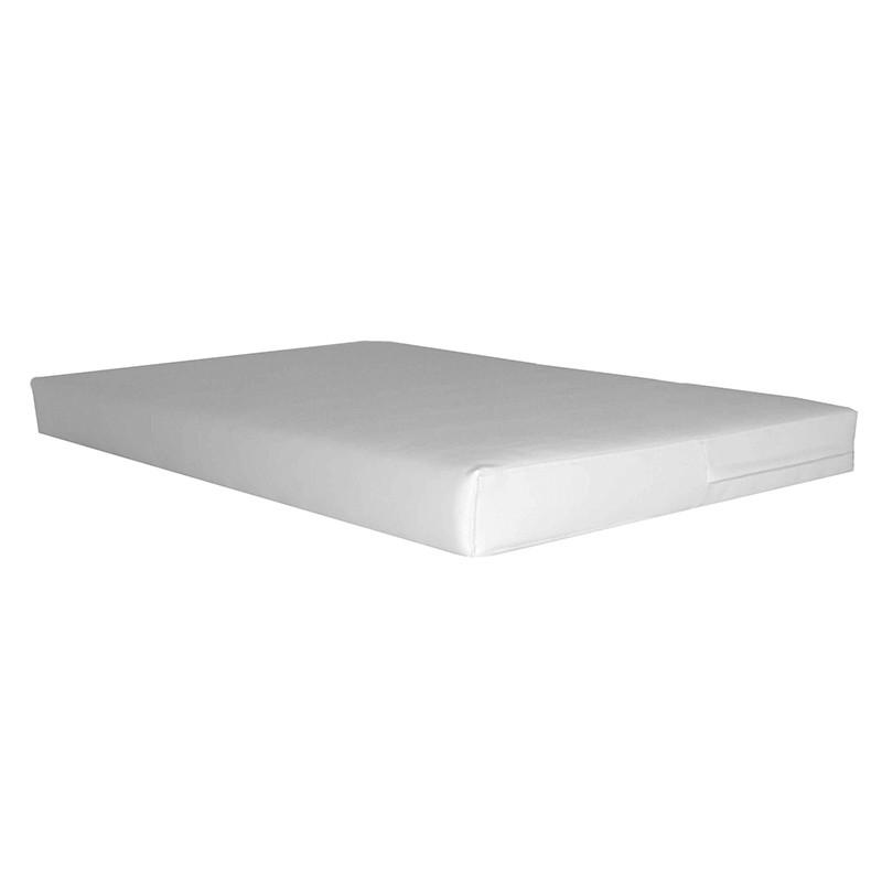 Cojín Asiento para Palet 80x120 cm. - Polipiel Blanco 10 cm.