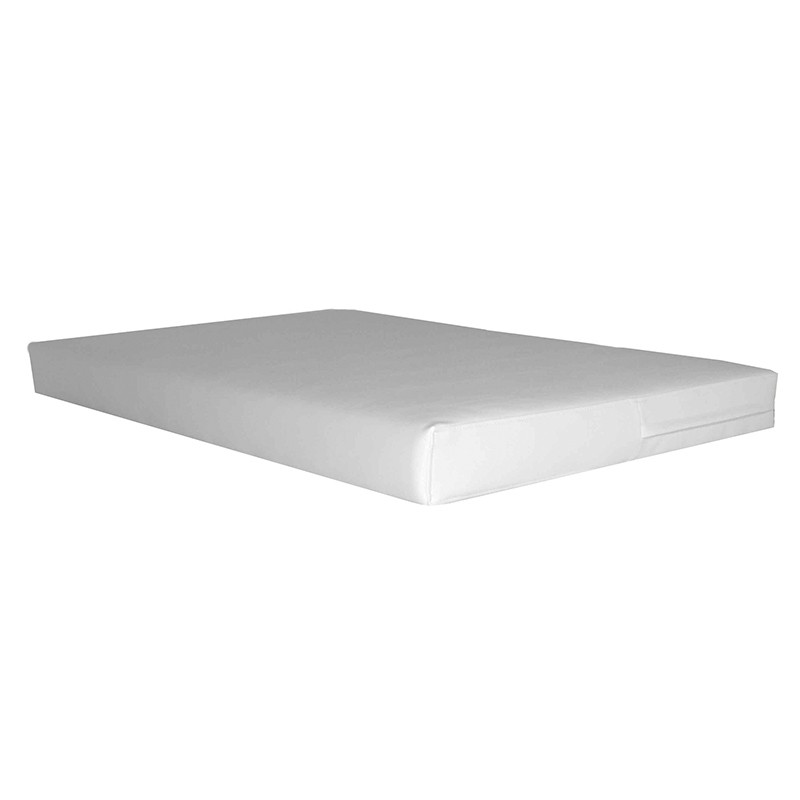 Seat Cushion for Pallet for 80x120 cm. - Leatherette White 10 cm.