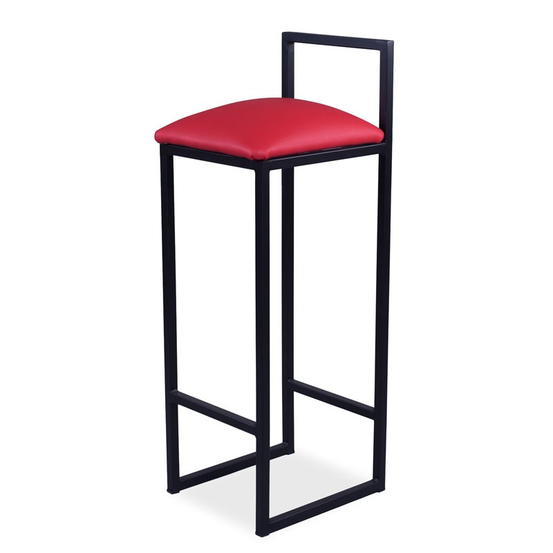 Dallas High Stool - Red Leatherette Yes