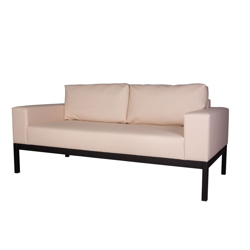 Niza Two-Seater Sofa - Nautic (Leatherette) Beige