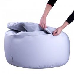Puff Confort - Outlet - Náutico (Poli Piel) Gris perla