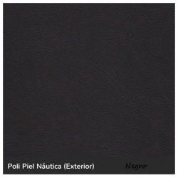Cama Balinesa Ibiza - Negro Náutico (Poli Piel)