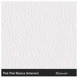 Esquinero Venezia Abotonado - Polipiel Blanco