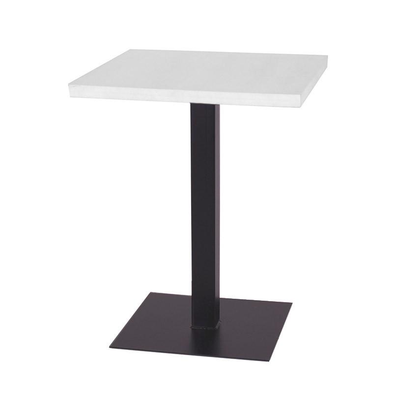 Mesa Lounge Comedor - Negro Blanco 60x60x75 cm