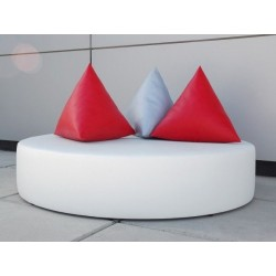 Balinese Round Bed - Nautic (Leatherette) White