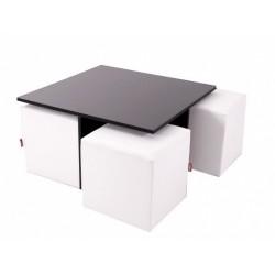Mesa Quatro DM Negra con cubos