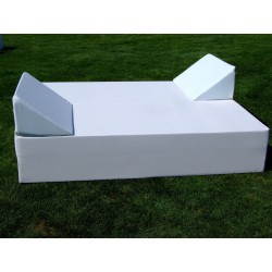 Triangular Back Cushion - Leatherette White 75cm. Width