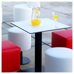 Low Square Table - Black Black
