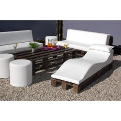Pallet Sofa - Nautic (Leatherette) White Wengue