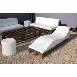 Duna Pallet Lounger - Nautic (Leatherette) White Wengue