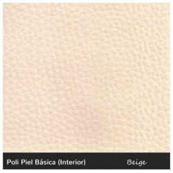 Seat Cushion for Pallet 100x120 cm. - Leatherette Beige 10 cm.
