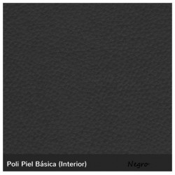IOS three-seater sofa - Black Leatherette