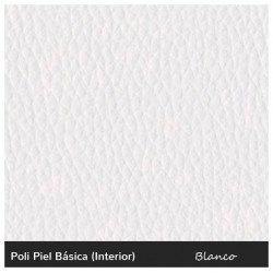 Rainbow High Single Sofa - Leatherette White
