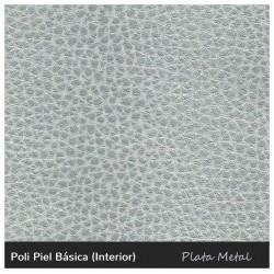 Paros Mini Pouf - Leatherette Silver