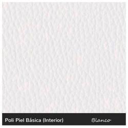 Rectangular White Pouf 90x37 - Leatherette without legs White 90x37x35 cm