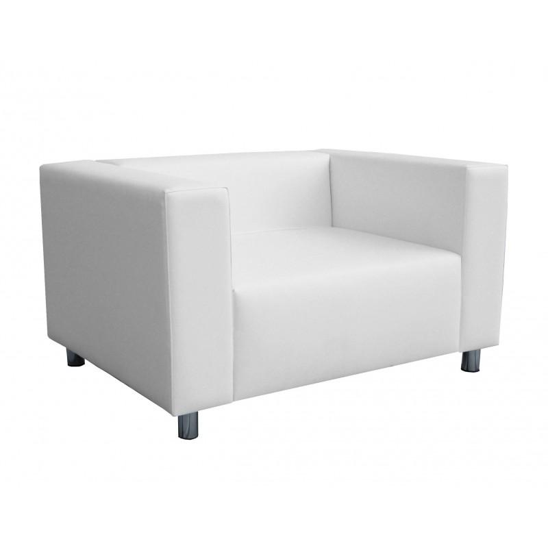 Nantes Single Sofa - Leatherette White