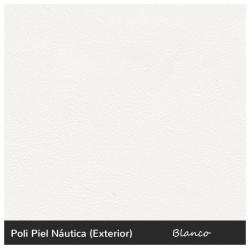 High Round Stool - Nautic (Leatherette) White