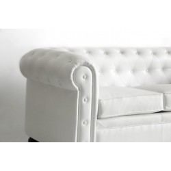 Chester Three-Seater Sofa - Nautic (Leatherette) White