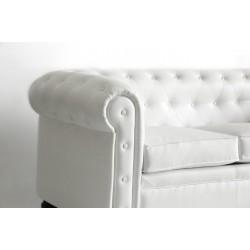 Chester Three-Seater Sofa - Nautic (Leatherette) White