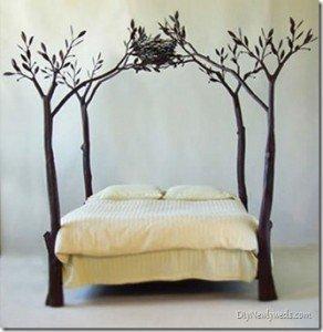 Cama con ramas