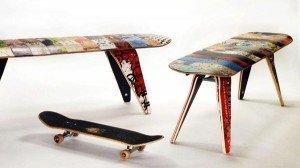mesas de reciclaje con skates