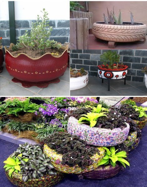 10 objetos diy y reciclados para decorar la terraza o for Carretillas de adorno para jardin