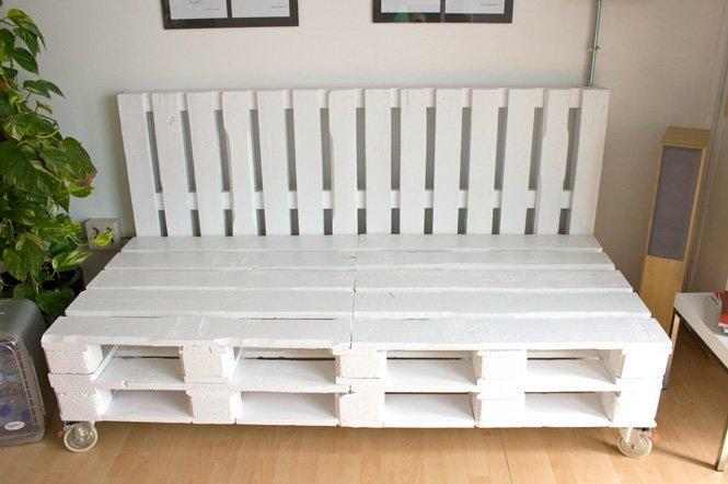 C mo hacer un sof de palets blog fiaka - Que hacer con un palet ...