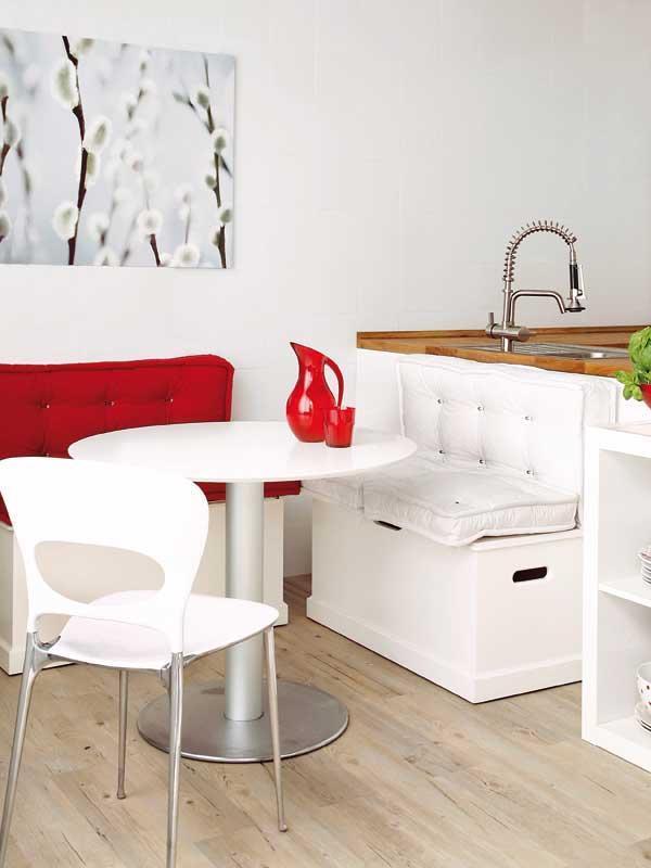 Ideas para crear un office en la cocina - Banco cocina rinconero ikea ...