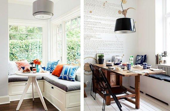 Ideas para crear un office en la cocina - Bancos de cocina esquineros ...
