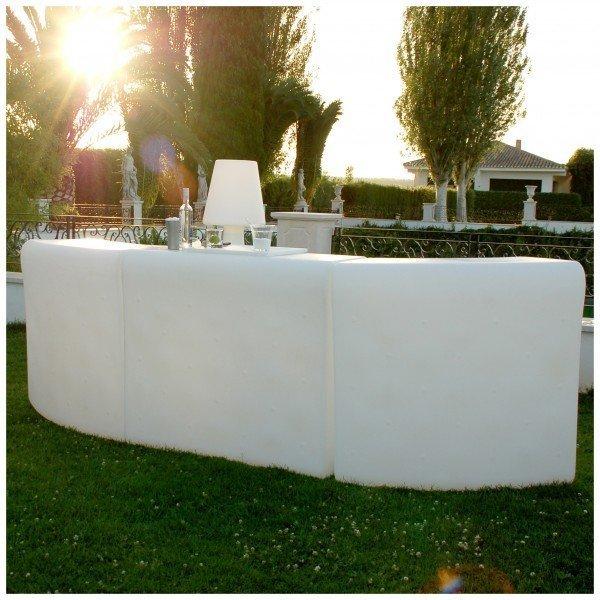 barra de bar de luz para terrazas
