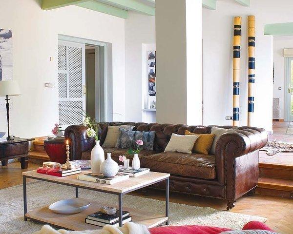 decoracion sofa chesterfield