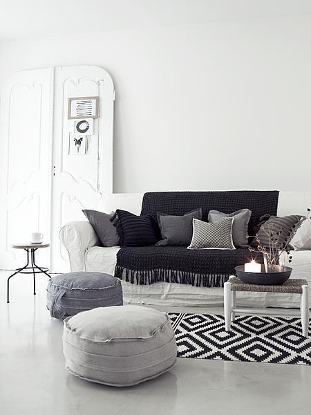 Muebles soft decoraci n con sillones puff - Puff para salon ...