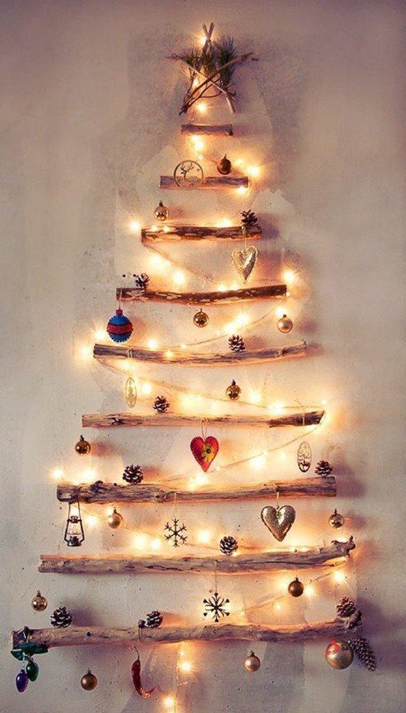 arbol navidad diy con ramas