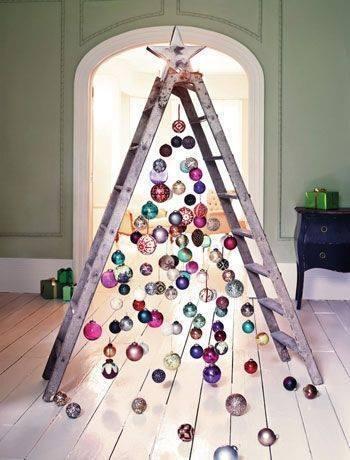 arbol navidad diy escaleras
